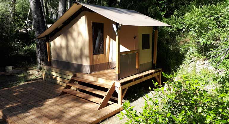 location tente camping vacance