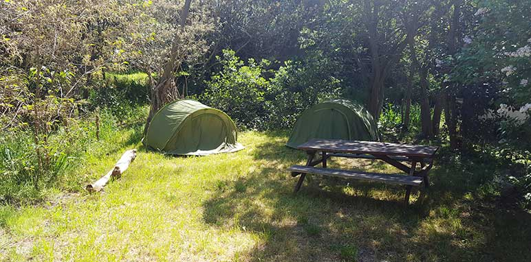 emplacement camping tente nature
