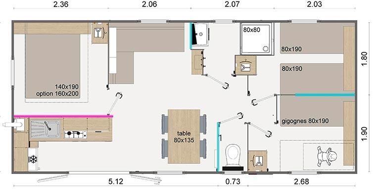 plan de location mobil-home à Marseille